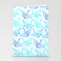 origami Stationery Cards featuring Origami by StudioBlueRoom