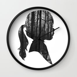 Forest girl Wall Clock