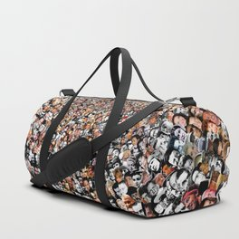 """The Work 3000 Famous and Infamous Faces Collage Duffle Bag"