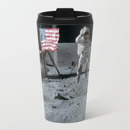 Apollo 16 - Astronaut Moon Jump Travel Mug