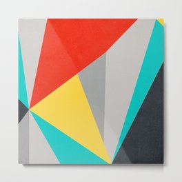 Aggressive Color Block Metal Print