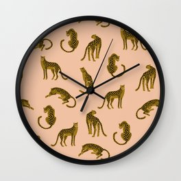 Blush Leopard Pattern Wall Clock