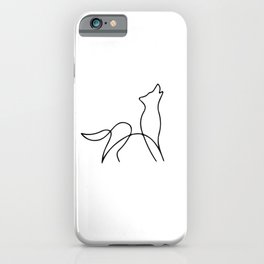 Picasso wolf Art - Minimal wolf Line Drawing iPhone Case