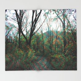 Into the Forest Throw Blanket