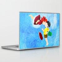 ponyo Laptop & iPad Skins featuring Ponyo and Sosuke by foreverwars
