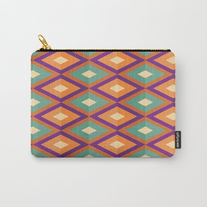 Pattern orange green Carry-All Pouch
