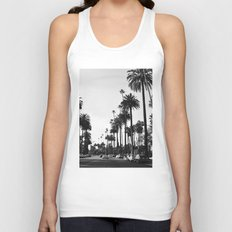 Los Angeles Black and White Unisex Tank Top