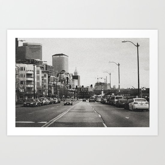 City Grain Art Print