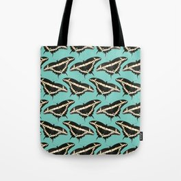 Butterfly Illustrated Pattern Print Tote Bag
