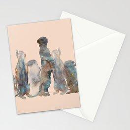 Meerkats Meeting Stationery Cards