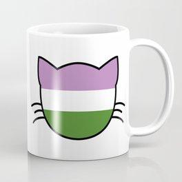 Genderqueer Cat Flag Coffee Mug