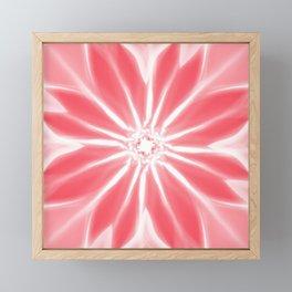 Modern Artsy Coral Pink Paint Flower Art Framed Mini Art Print
