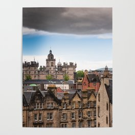 View of Edinburgh architecture from Victoria Street Poster