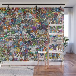 pokeman Wall Mural