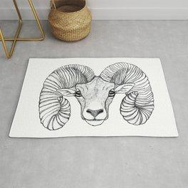 Ram Head Rug