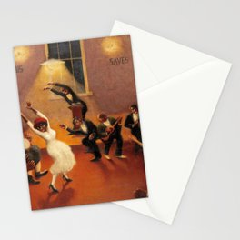 African-American Classical Masterpiece 'Tongues (Holy Rollers)' by Archibald Motley Stationery Cards