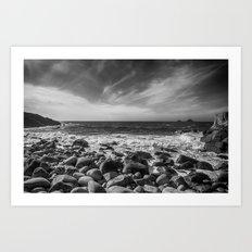 Cot Valley Porth Nanven 4 Black and White Art Print