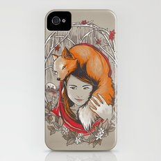 Safe in My Red Riding Hood iPhone (4, 4s) Slim Case