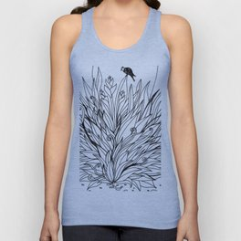 Bird on Foliage Unisex Tank Top