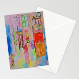 Colorful Bedroom #society6 Stationery Cards
