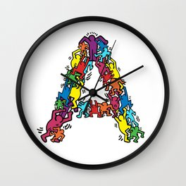 A by Keith Wall Clock