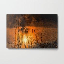 Sunrise at the lake /Sonnenaufgang am See Metal Print