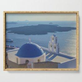 Santorini Island, Greece Serving Tray