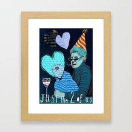 Just the 2 0f Us Framed Art Print