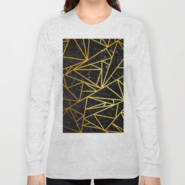 GEOMETRIC BLACK MARBLE Long Sleeve T-shirt