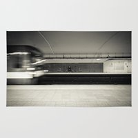 montreal Area & Throw Rugs featuring Montreal Subway by Mikael Rouske