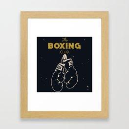 The boxing club Framed Art Print