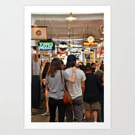 Lovers in Grand Central Market Art Print