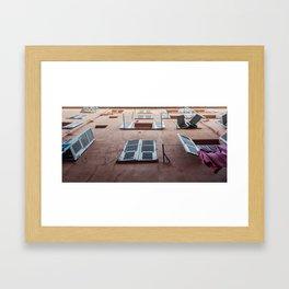 Windows of Nice Framed Art Print