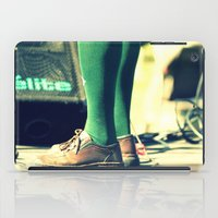 socks iPad Cases featuring Green socks by Irène Sneddon