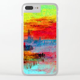William Turner Scarlet Sunset Clear iPhone Case