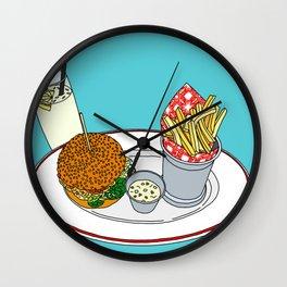 Burger, Chips and Lemonade Wall Clock