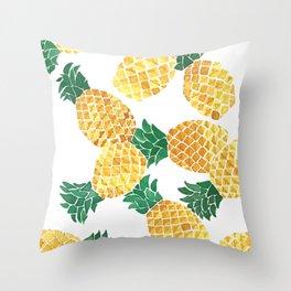 Summer Pineapple Goodness Throw Pillow