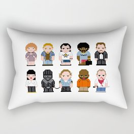 Pixel Pulp Fiction Characters Rectangular Pillow