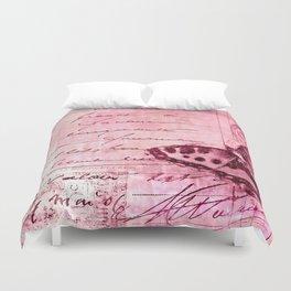 pink postage Duvet Cover
