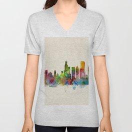 Chicago City Skyline Unisex V-Neck