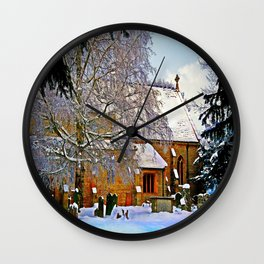 Warmth of a Church in Winter.  Wall Clock