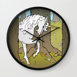 Autumn Unicorn Wall Clock