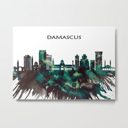 Damascus Skyline Metal Print