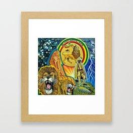 Lion Symbol Framed Art Print