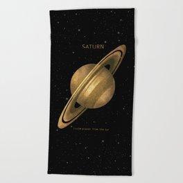 Saturn Beach Towel