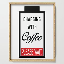 Charging with coffee Serving Tray