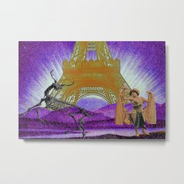 Ever dance with a skeleton? Metal Print