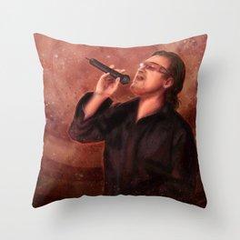 Bono Vox Throw Pillow