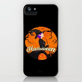 Beautiful Witch Halloween design Spooky Gift for Girls iPhone Case