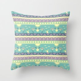 Bin Chicken You Out - Teal & Pink Throw Pillow